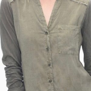 "NWOT Splendid ""New Famous Shirt"" in Olive Green"